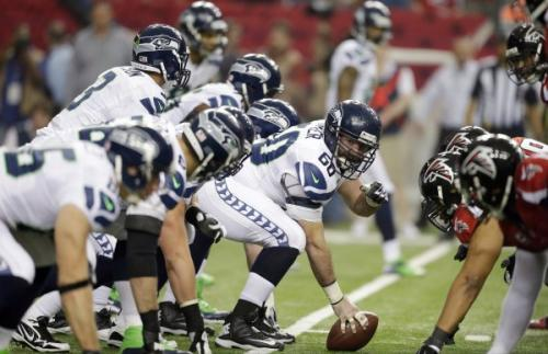 Seattle Seahawks offensive line (Associated Press)